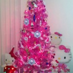 Hello Kitty pink Christmas tree