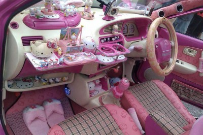 Hello Kitty car interior