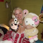 hello kitty guns and plush