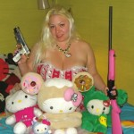 hello kitty plush and guns
