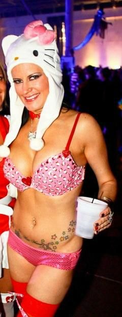 Hello Kitty duct tape bra