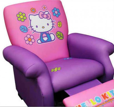 hello kitty recliner chair