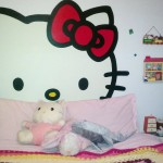 hello kitty wall