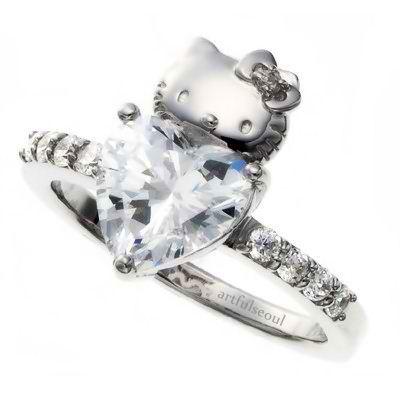 read more categories jewelry weddingtags engagement ring heart diamond hello kitty - Hello Kitty Wedding Ring