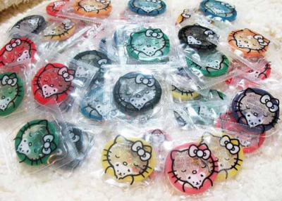 Hello Kitty colored and flavored condoms