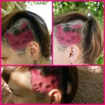 hello kitty hair shave