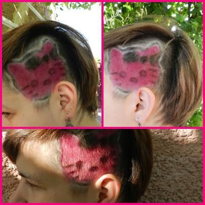 Hello Kitty haircut
