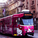 Hello kitty street car
