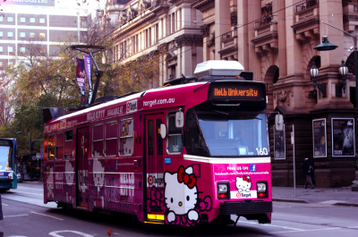 Hello kitty street car Australia