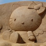 Hello Kitty sand castle