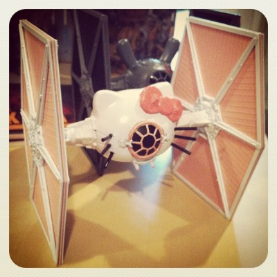 Hello Kitty Star Wars Tie Fighter