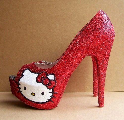 red 5 inch heels