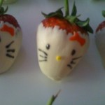 hello kitty white chocolate strawberries