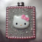 Hello Kitty pink flask