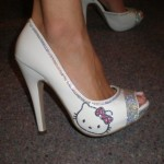 Hello Kitty wedding shoes