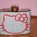 hello kitty alcohol flask