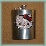hello kitty face flask