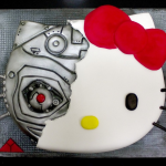 Hello Kitty terminator cake