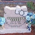 hello kitty gravestone