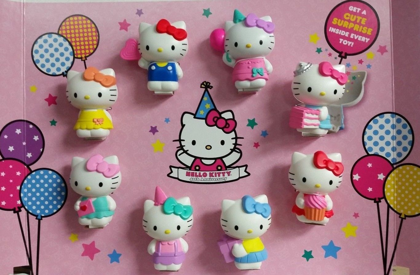 Hello Kitty 40th anniversary Happy Meal toy promotion
